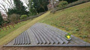 Klinkeranlage auf dem Ehrenfriedhof in Ludwigslust
