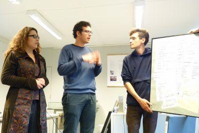 Vorstellung des erarbeiteten Medienkonzeptes durch die Teilnehmer