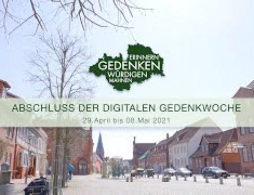 Abschluss der digitalen Gedenkwoche vom 29. April bis 08. Mai 2021